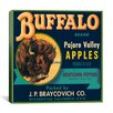<strong>iCanvasArt</strong> Buffalo Brand Apples Vintage Crate Label Canvas Wall Art