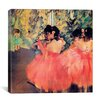 iCanvas 'Ballerina in Red' by Edgar Degas Painting Print on Canvas