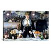 iCanvasArt 'Bar at The Folies Bergeres' by Edouard Manet Painting Print on Canvas