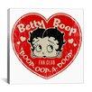 iCanvas Betty Boop Fan Club - Heart Betty Canvas Wall Art