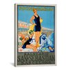 <strong>iCanvasArt</strong> Balneario San Sebastian Barcelona Vintage Advertisement on Canvas