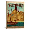 <strong>iCanvasArt</strong> Baltimore, Maryland Vintage Advertisement on Canvas
