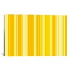 iCanvasArt Striped Banana Orange Milkshake Graphic Art on Canvas