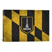 <strong>iCanvasArt</strong> Baltimore Flag, Grunge Cracks Graphic Art on Canvas
