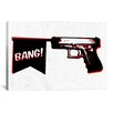 iCanvas Bang Bang (Pistol) Graphic Art on Canvas