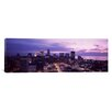 iCanvas Panoramic Buildings Lit up at Night Photographic Print on Canvas