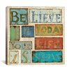 "<strong>iCanvasArt</strong> ""Believe and Hope"" Canvas Wall Art by Daphne Brissonnet"