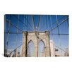 <strong>iCanvasArt</strong> Brooklyn Bridge by Monte Nagler Photographic Print on Canvas