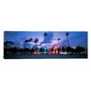iCanvas Panoramic Buildings Lit Up at Dusk, Miami, Florida, Photographic Print on Canvas