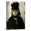 iCanvas 'Berthe Morisot with a Bouquet of Violets' by Edouard Manet Painting Print on Canvas
