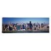 iCanvas Panoramic Buildings on the Waterfront, Manhattan, New York City, New York State, Photographic Print on Canvas