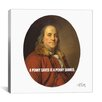 <strong>iCanvasArt</strong> Benjamin Franklin Quote Canvas Wall Art