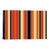 iCanvas Striped Burning Rassberyy Graphic Art on Canvas