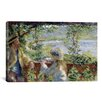 iCanvas 'By The Water Or Near The Lake 1880' by Pierre-Auguste Renoir Painting Print on Canvas