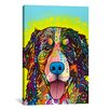 <strong>iCanvasArt</strong> 'Burnese Mountain Dog' by Dean Russo Graphic Art on Canvas