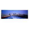 iCanvas Panoramic Buildings Lit up at Night Philadelphia Photographic Print on Canvas