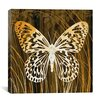 "iCanvas ""Butterflies & Leaves"" Canvas Wall Art by Erin Clark"