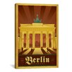 <strong>iCanvasArt</strong> 'Berlin, Germany' by Anderson Design Group Vintage Advertisement on Canvas