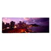 iCanvas Panoramic Buildings Lit Up at Dusk, Waikiki, Oahu, Hawaii, Photographic Print on Canvas