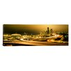 iCanvasArt Panoramic Buildings Lit up at Night Seattle, Washington Photographic Print on Canvas