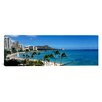 iCanvas Panoramic Buildings on the Beach Waikiki Beach, Honolulu, Hawaii Photographic Print on Canvas
