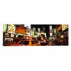 iCanvas Panoramic Buildings Lit Up at Night in a City, Broadway, Times Square, Midtown Manhattan, Manhattan, New York City, New York State, Photographic Print on Canvas