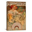 iCanvas 'Biscuits Lefevre Utile' by Alphonse Mucha Vintage Advertisement on Canvas