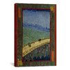 iCanvasArt 'Bridge in the Rain (After Hiroshige)' by Vincent van Gogh Painting Print on Canvas