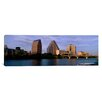iCanvas Panoramic Bridge over a River, Congress Avenue Bridge, Austin, Texas Photographic Print on Canvas
