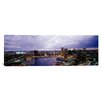 <strong>iCanvasArt</strong> Panoramic Buildings Lit Up at Dusk, Baltimore, Maryland, Photographic Print on Canvas