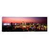 iCanvasArt Panoramic Buildings Lit Up at Dusk, Baltimore, Maryland, Photographic Print on Canvas