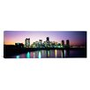 iCanvasArt Panoramic Buildings Lit up at Dusk Boston Photographic Print on Canvas