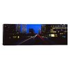 iCanvas Panoramic Buildings Lit Up at Night, Century City, Los Angeles, California, Photographic Print on Canvas