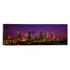 iCanvasArt Panoramic Buildings Lit up at Night, Houston, Texas Photographic Print on Canvas
