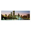 iCanvas Panoramic Buildings Lit up at Night Chicago Photographic Print on Canvas