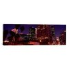iCanvasArt Panoramic Buildings Lit Up At Night, City of Los Angeles, California Photographic Print on Canvas