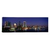 iCanvas Panoramic Buildings Lit up at Night Jacksonville, Florida Photographic Print on Canvas