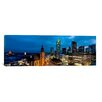 iCanvas Panoramic Buildings Lit Up At Night, St. Catherine's Church, Hauptwache, Frankfurt, Hesse, Germany Photographic Print on Canvas