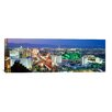 iCanvas Panoramic Buildings Lit Up At Dusk in a City, Las Vegas, Clark County, Nevada Photographic Print on Canvas