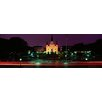 iCanvasArt Panoramic Buildings Lit Up at Night, Jackson Square, St. Louis Cathedral, French Quarter, New Orleans, Louisiana, Photographic Print on Canvas