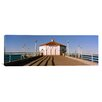 iCanvasArt Panoramic Building on a Pier, Manhattan Beach Pier, Manhattan Beach, Los Angeles County, California Photographic Print on Canvas
