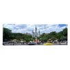 iCanvas Panoramic Cathedral at the Roadside, St. Louis Cathedral, Jackson Square, French Quarter, New Orleans, Louisiana Photographic Print on Canvas