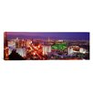 iCanvas Panoramic Buildings Lit up at Dusk in a City Las Vegas, Nevada Photographic Print on Canvas