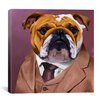 <strong>iCanvasArt</strong> 'Bull Dog 2_003' by Brian Rubenacker Graphic Art on Canvas
