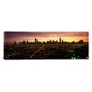 iCanvas Panoramic CGI Composite, High Angle View of a City at Night, Chicago, Cook County, Illinois Photographic Print on Canvas