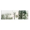 iCanvasArt Panoramic Chair Lift and Snowy Evergreen Trees at Stevens Pass, Washington State Photographic Print on Canvas