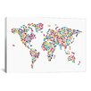 iCanvasArt 'Cats World Map' by Michael Tompsett Graphic Art on Canvas