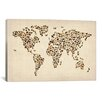 <strong>iCanvasArt</strong> 'Cats World Map II' by Michael Tompsett Graphic Art on Canvas