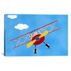 "iCanvasArt Shelly Rasche ""Cat in a Bi-Plane"" Canvas Wall Art"