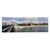 iCanvas Panoramic Bolshoy Kamenny Bridge, Grand Kremlin Palace, Moskva River, Moscow, Russia Photographic Print on Canvas